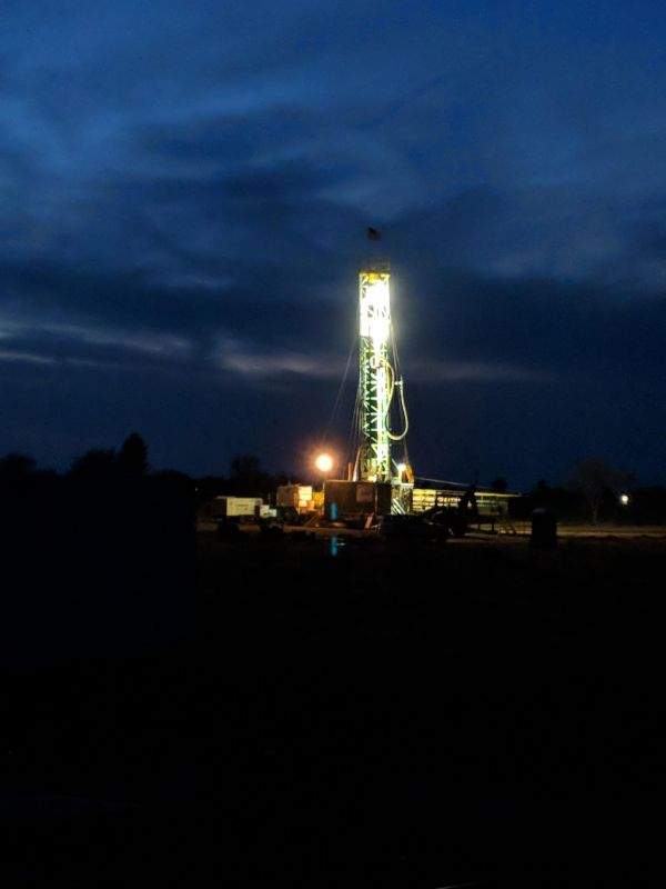 Well #11 Night Drilling Begins 4-5-18